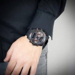 Coffret Montre Homme Silicone XL Noir GIORGIO