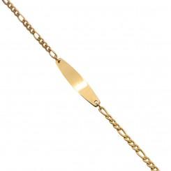 Gourmette Bracelet Femme Acier Doré