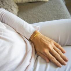 Gourmette Bracelet pour Femme Acier Doré