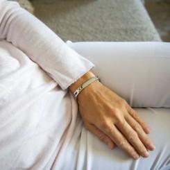 Bracelet Femme Acier Argent Doré