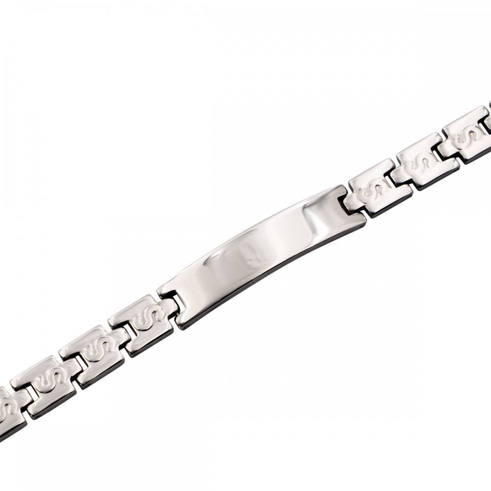 Bracelet Femme Acier Argent