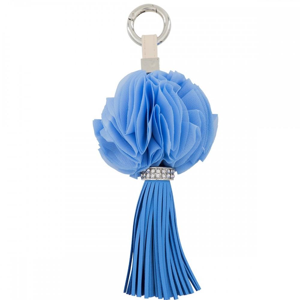 Porte-Clés Tissu Pendant Bleu