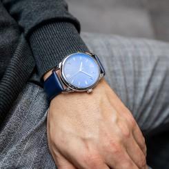 Montre Homme Couleur Bleu Nuit M. JOHN