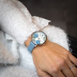 Coffret Montre Femme Bleu M. JOHN