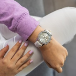 Coffret Montre Femme Blanc GIORGIO
