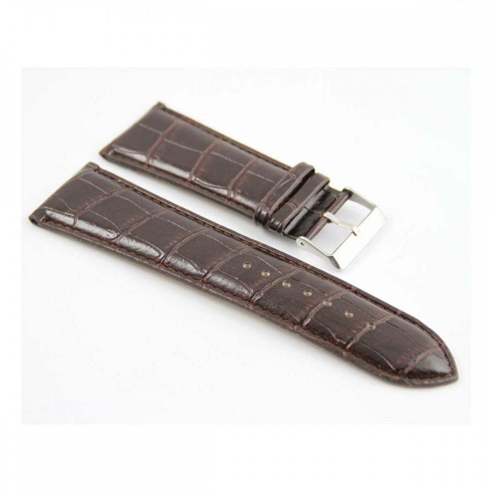 Bracelet pour montre en synthétique Chocolat 30mm