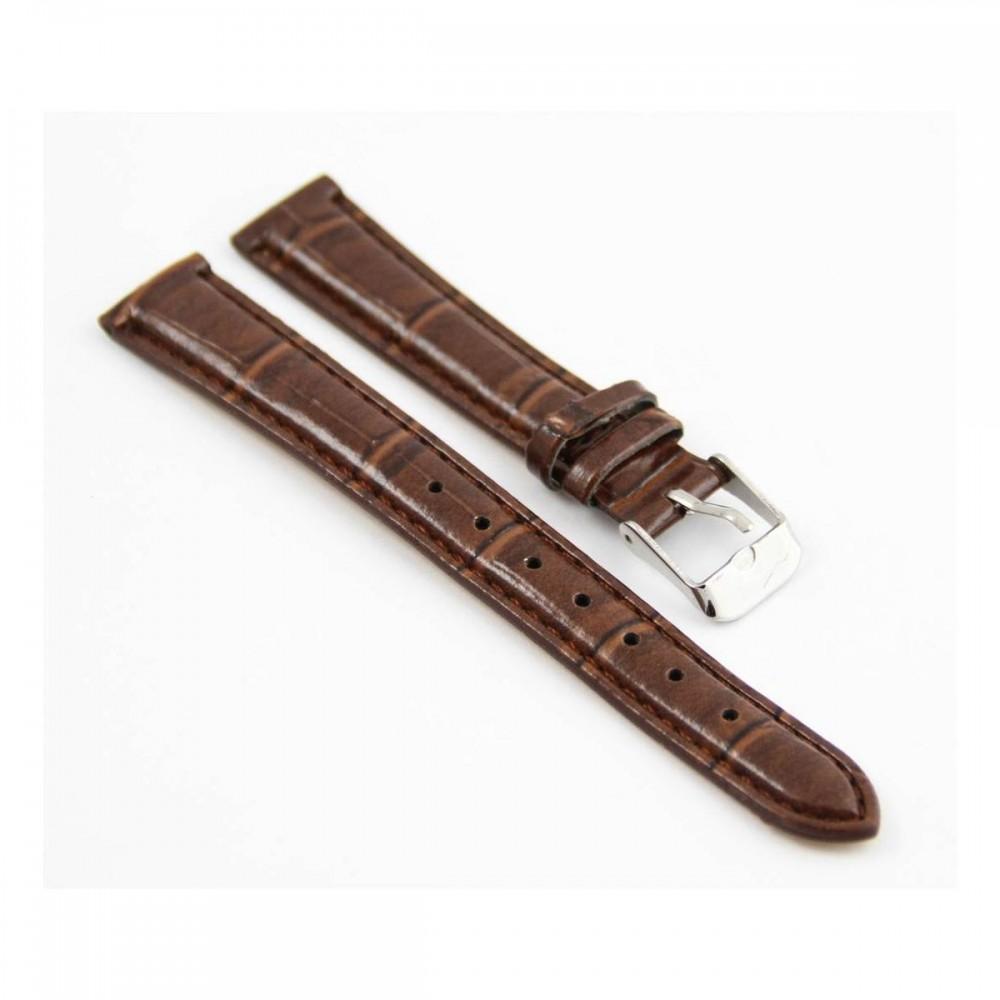 Bracelet pour montre en synthétique Marron 14mm