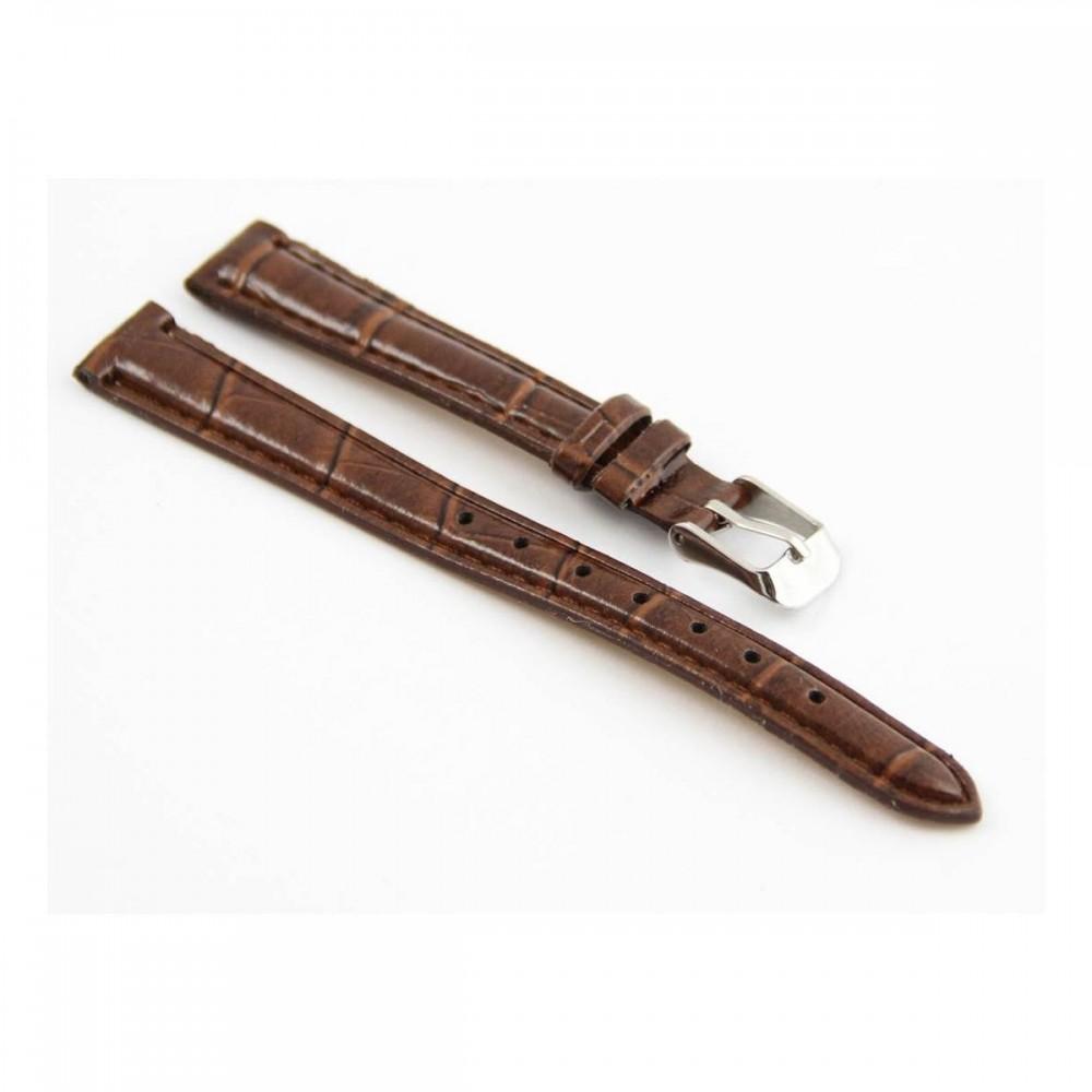 Bracelet pour montre en synthétique Marron 12mm