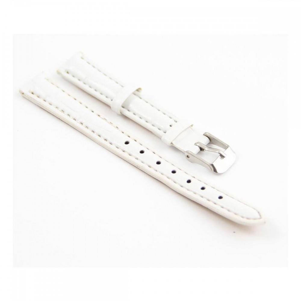 Bracelet pour montre en synthétique Blanc 12mm